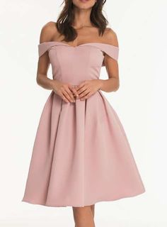 *Chi Chi London Pink Fold Over Bardot Dress - Dorothy Perkins France