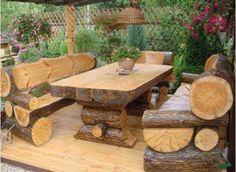 Log furniture