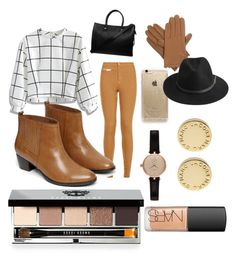 """""""Fall day"""" by lovebball12 ❤ liked on Polyvore featuring Chicwish, Parisian, Warehouse, Paul & Joe, Isotoner, Rifle Paper Co, BeckSöndergaard, Barbour, Marc by Marc Jacobs and Bobbi Brown Cosmetics"""