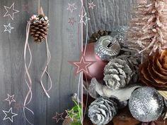 Weihnachtsdekoration Fensterdeko Tannenzapfen dekoriert | Etsy