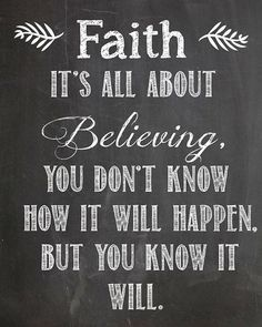 #Faith it's all about #believing, you don't know how it will happen, but you know it will.  #ivfspecialist #drsonubalhara