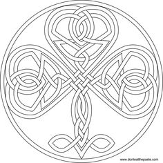 Irish Coloring Pages Celtic Mandalas Irish Shamrock Mandala