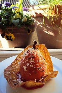 Pretty poached pear