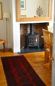 Wood burning stove in dining room ideas