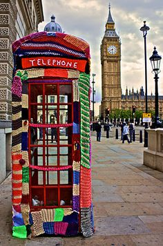 Yarn Bombing happens worldwide to anything at any given time....wonderful colorful art.