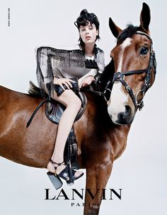 Edie Campbell for Lanvin Fall Winter 2014