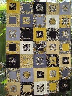 Pattern: Small Plates by Elizabeth Hartman  Fabric: Joel Dewberry's Aviary 2 and Kona Cotton