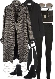 Untitled by nikka-phillips featuring tom ford glasses Winter Fashion Outfits, Fall Winter Outfits, Look Fashion, Autumn Winter Fashion, Womens Fashion, Christmas Outfits, Looks Style, Looks Cool, My Style