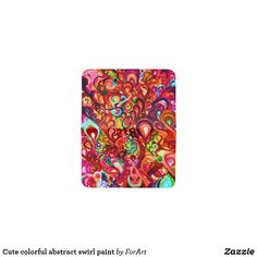 Cute colorful abstract swirl paint card holder