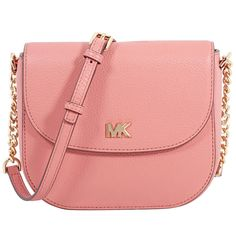 1357816f3317 Michael Kors crossbody bag crafted in pebbled leather with gold-tone metal  hardware and polyester