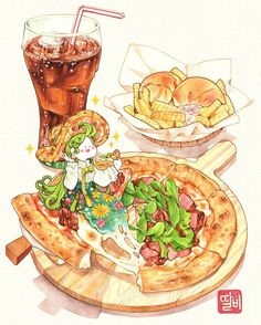 Desserts Drawing, Chibi Food, Cute Food Drawings, Food Sketch, Food Painting, Food Journal, Cute Cartoon Wallpapers, Kawaii Art, Food Illustrations