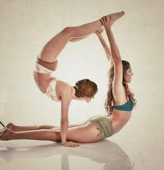 Acro/Partner Yoga. Source Mika Yoga Wear I suggested they wait a few days before contacting you as I thought you may need the private time.