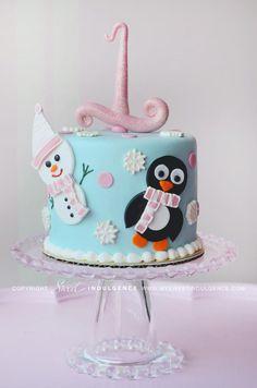 Winter cake penguin and snowman 3 12 2013 Birthday Cake Girls, First Birthday Cakes, 4th Birthday Parties, Birthday Celebrations, Birthday Ideas, Christmas Cake Decorations, Christmas Cakes, Christmas Ideas, Xmas