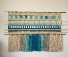 Weaving Art, Tapestry Weaving, Hand Weaving, All Kinds Of Everything, Rug Patterns, Textiles, Woven Wall Hanging, Fabric Art, Diy Art