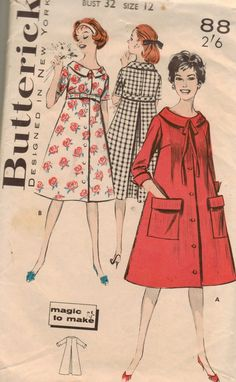 Vintage 50s Butterick 8810 Sewing Pattern Misses by brownmouse60