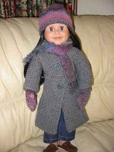 knitted coat, scarf, hat and mittens 2014