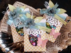 Sizzix Die Cutting Inspiration and Tips: Sweet Treats Candy Holders by Audrey Pettit.