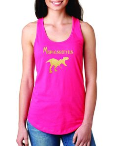 Mamasaurus Women Racerback Tank Top- Cute Mothers' day gift or every day shirt- Regular size tank top by DJammarMaternity on Etsy