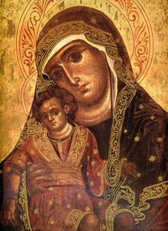 Byzantine Icons, Byzantine Art, Religious Icons, Religious Art, Orthodox Icons, Blessed Mother, Sacred Art, Madonna, Christian Art