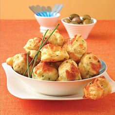 Pepper Cheese & Chive Gougère - Gougère (goo-zhair), a creative appetizer recipe, is a cheese-flavored cream puff pastry that can be served hot or cold.