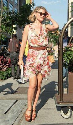 .Ali Larter arriving her hotel in Soho New York.