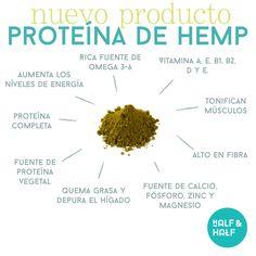 La Proteína de Hemp (cáñamo en polvo) esta hecho de la semilla de cáñamo, una de las fuentes vegetales más ricas en proteínas, ácidos grasos omega y fibra. Nuestro polvo de cáñamo orgánico contiene 50% de proteína, y ofrece una variedad de otros nutrientes esenciales. Este súper alimento ecológico tiene un sabor a nuez y es fácil de disfrutar en batidos y productos horneados. #hemp #hempprotein #proteinadehemp