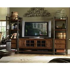 Medley 60-Inch TV Console Wall System | Shopping in Riverside Furniture Home Theater