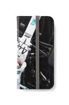 Lewis Carl Davidson Hamilton Art Iphone Wallet Case by mulderron