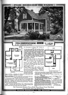 Avalon Sears Kit Home - I love these old plans from the 20\'s and ...