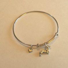 Dachshund Bangle Charm Bracelet Alex & Ani Inspired – The Smoothe Store #Dachshund