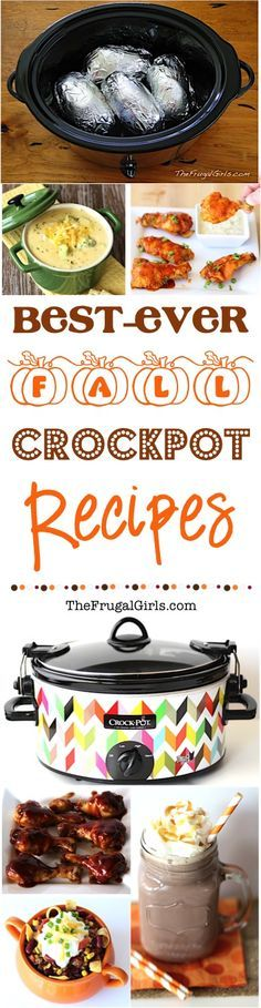 Fall Crockpot Recipes! ~ from TheFrugalGirls.com/?utm_content=buffered3fe&utm_medium=social&utm_source=pinterest.com&utm_campaign=buffer ~ go grab your Slow Cooker and get ready for the Best Ever Fall Crock Pot Recipes... perfect for a cozy dinner, football parties, and fabulous desserts!