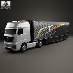 Mercedes-Benz Future Truck Trailer 2025 3d model from Humster3D.com.
