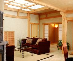 Another EcoNest home interior. Great privacy, light, and use of natural materials.