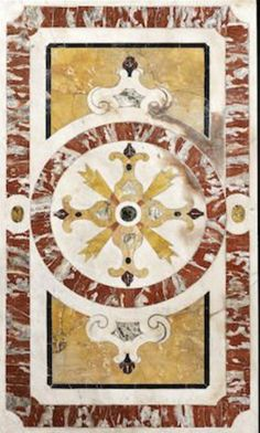 A Sicilian 18th century marble inlaid table top
