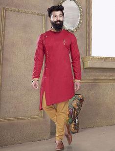 Mens Kurta Pajama: Buy Indian Kurta Suit Online for Wedding & Festival wear Mens Indian Wear, Indian Groom Wear, Indian Men Fashion, Latest Mens Fashion, Indian Suits, Wedding Kurta For Men, Wedding Dresses Men Indian, Wedding Dress Men, Wedding Outfits