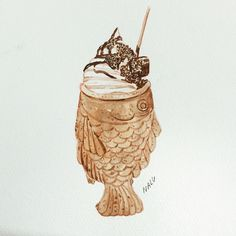 ร้อนจังเลย  #watercolor #art #draw #sketch #icecream #food #tumblr