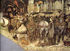Antonio di Puccio Pisano called Pisanello (Italian,1395-1455) ~ San Giorgio e la Principessa/St George and the Princess of Trebizond ~ ca.1436-1438 ~ Chiesa di Sant'Anastasia, Verona ~ Pisanello, known professionally as Antonio di Puccio Pisano or Antonio di Puccio da Cereto, also erroneously called Vittore Pisano by Giorgio Vasari, was one of the most distinguished painters of the early Italian Renaissance and Quattrocento.