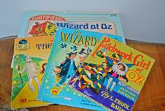 Wizard Of Oz Books Collection Of Four Vintage by Collectitorium Wizard Of Oz Book, Wonder Book, All Covers, Vintage Children's Books, Book Collection, Pop Up, Childrens Books, Christmas Gifts, Handmade