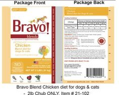 Bravo Pet Foods Recalls Select Lots of Bravo Chicken Products | petMD