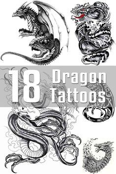 Dragon Tattoo Designs - The Body is a Canvas Chinese Tattoo Designs, Star Tattoo Designs, Dragon Tattoo Designs, Star Tattoos, New Tattoos, Tribal Tattoos, Cool Tattoos, Tatoos, Memory Tattoos