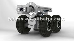 pipeline inspection robot with PTZ camera head for 300-1800mm dia of pipes