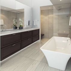 Hot bathroom in the house! #Repost @chameleonconcepts  We are swooning over this master bath. #ChameleonConcepts #bathroomVanity #vanities #masterbath #interiordesign #designinspiration #inspiration #decor #potd #love #nutshell #brownVanity #tiles from #tilebar #bathroomdesign #tub #hot #inthehouse #floortile #walltile #endlesspossibilities #TileHighClub #yearofthetile #swoon #tileaddiction #ihavethisthingwithtiles #porcelain by tilebar
