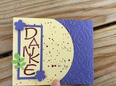 Danke Karte, Stampin Up, prägefolder Barock, Blumen