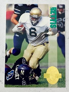 La Rams Football, Nfl Football Players, Notre Dame Football, Football Cards, Football Helmets, Steelers Fans, Baseball Cards, Jerome Bettis, Fighting Irish