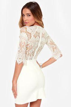 ddffab4a54 BB Dakota Princeton Dress - Ivory Dress - Lace Dress -  91.00 Dress Skirt