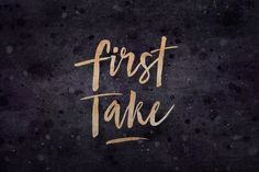 First Take ~ Script Fonts on Creative Market