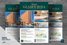 Hotel Promotional Flyer Design Template Boost your company's sales and attract new customers! This Hotel Promotional Flyer/ Flyer Design Template has been Flyer Design Templates, Flyer Template, Promotional Flyers, Marketing Opportunities, Hotel Deals, Hotels, Layout, Branding, Brand Management