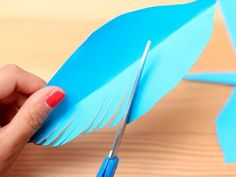 Gift Wrapping Idea: Paper Feathers