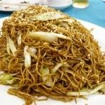 Cantonese Stir-fried Egg-noodle with Soy Sauce