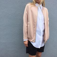 Pink jacket.